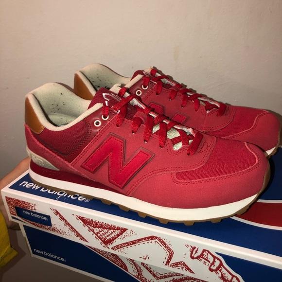 político Merecer Pisoteando  New Balance Shoes | Brand New Red New Balance 574s | Poshmark